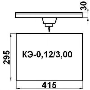 Конфорка КЭ-0,12 3 кВт