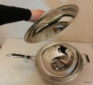 Сковорода вок с крышкой