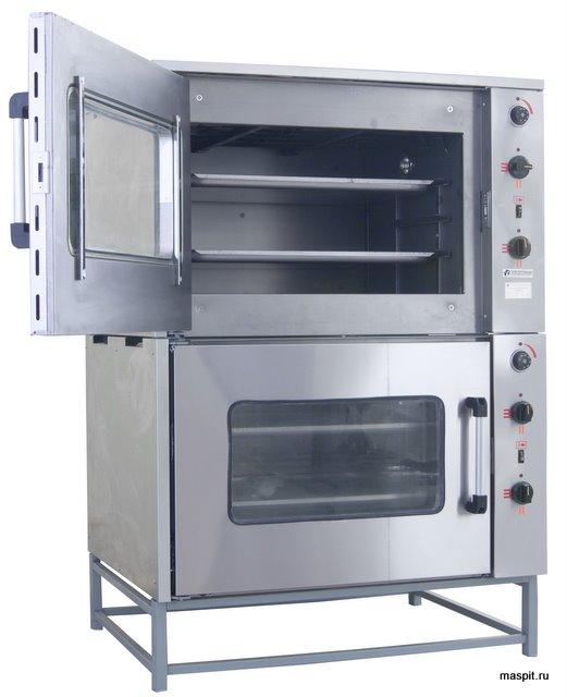шж-150-2с жарочный шкаф с открытой верхней дверцей