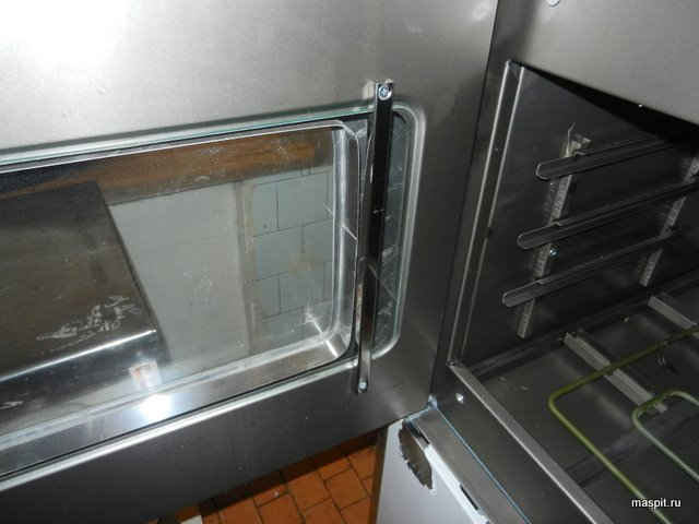 дверца  жарочного шкафа ШЖ-150-2с изнутри, стекло