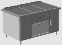 плита газовая профессиональная ПРГ-IIA-3С ДШ