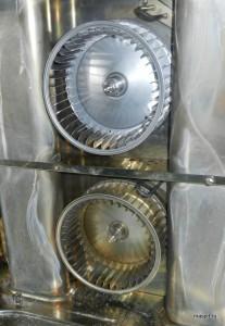 Новая и старая крыльчатки-вентиляторы unox