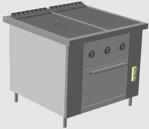 газовая плита для детского сада