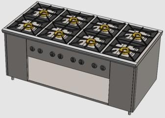 ПРГ-IIА-8 газовая плита для ресторана