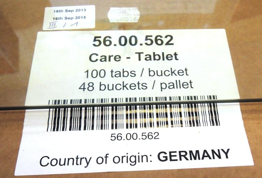 Маркировка стекла на упаковке